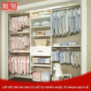 bảo quần quần áo bằng tủ gỗ