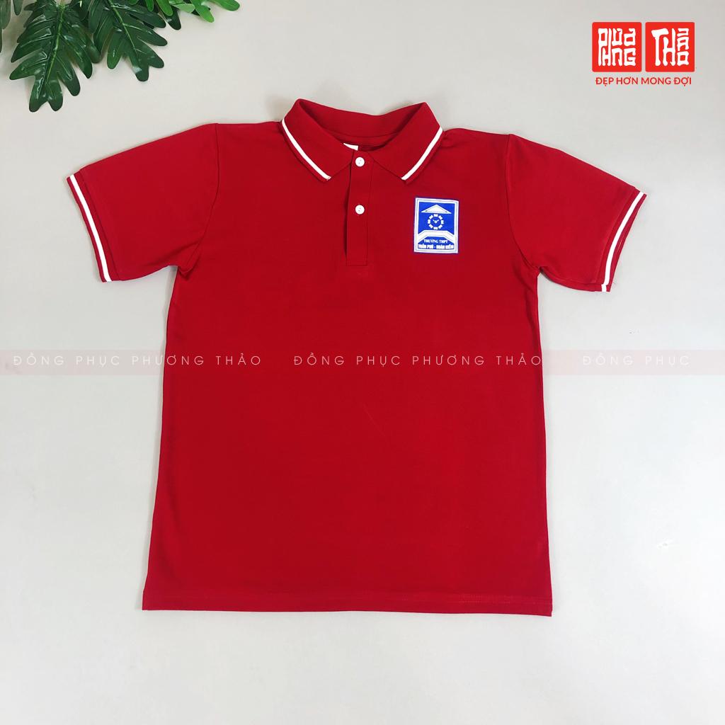 Áo thể thao CT đồng phục Trần Phú (Đỏ) cấp 3